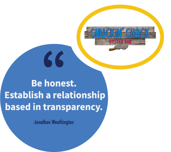 A franchise sales tip from Jonathan Weathington, CEO of Shuckin' Shack.