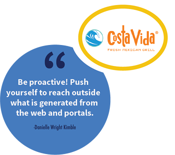 A franchise sales tip from Danielle Wright Kimble, National Franchise Sales Director at Costa Vida.