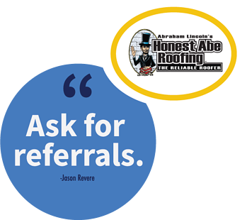 A franchise sales tip from Jason Revere, VP of Business Development at Honest Abe Roofing.