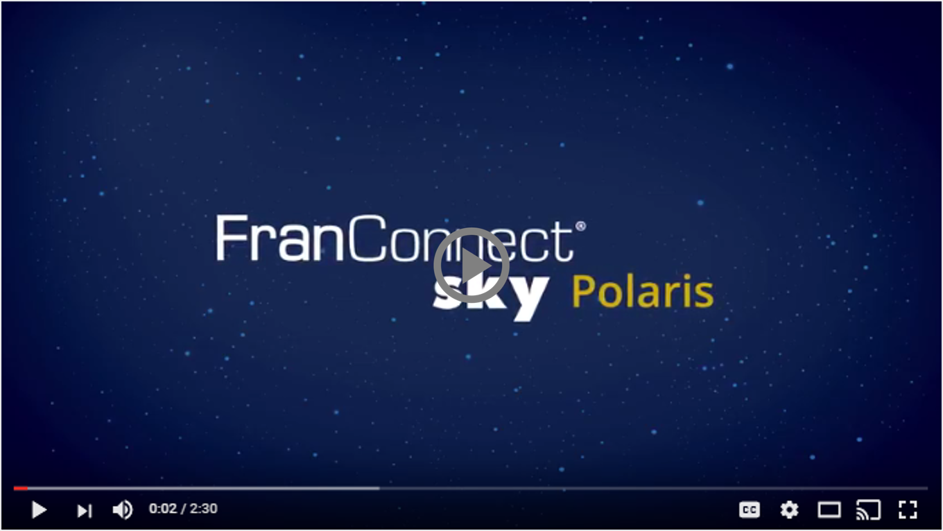 FranConnect Sky: Polaris edition is latest release of cloud-based franchise management software.