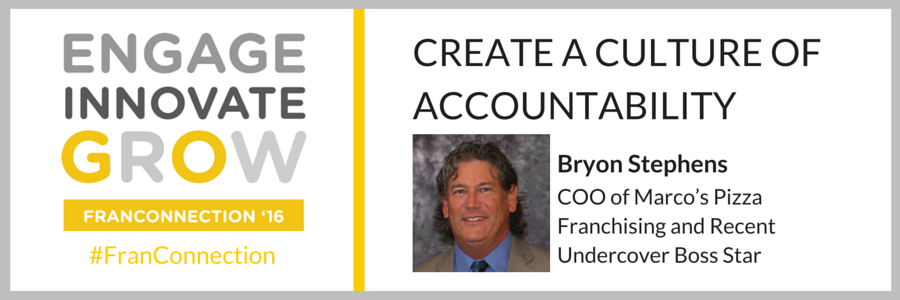 Bryon Stephens at FranConnection'16, FranConnect's bi-annual customer convention