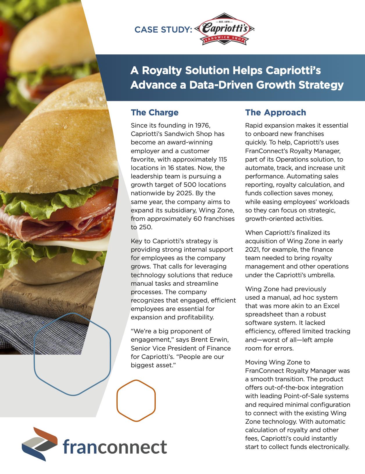 Capriottis case study featured image